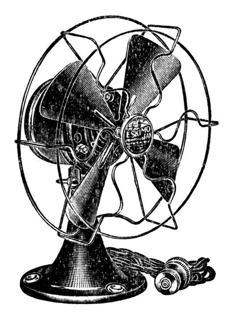 retro clip art cute electric fan  graphics fairy