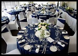 navy blue and white wedding table decorations With navy blue wedding decorations