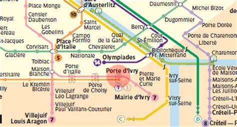 porte d ivry station map metro
