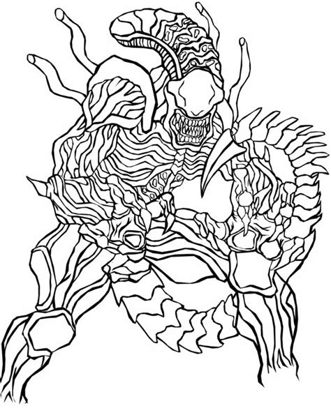 alien  predatorvm colouring pages coloring pages