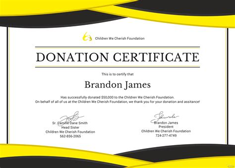 donation certificate template  adobe photoshop