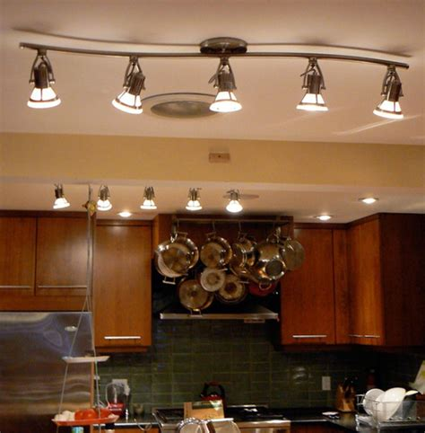 led kitchen ceiling track lighting home lighting design