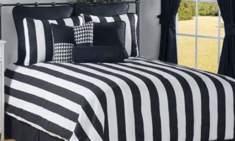 black and white striped comforter dadka modern home decor and space saving furniture for