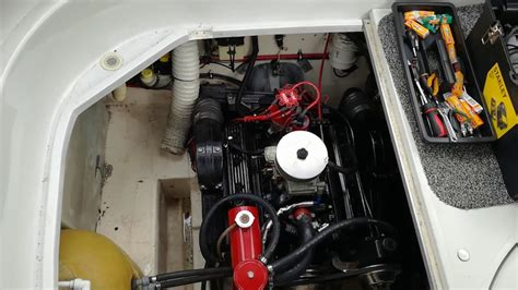 volvo penta   engine test  holley carb rebuild