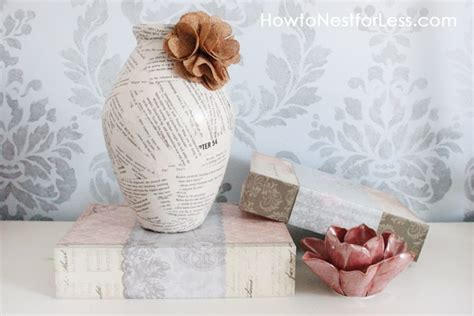 minute craft book page vases   nest