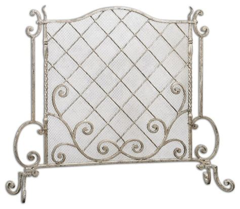 shabby chic fireplace screen modern and unique uttermost acasia silver leaf fireplace screen home decor shabby chic
