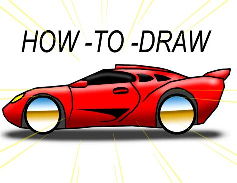 draw cartoon exotic car  ez  youtube