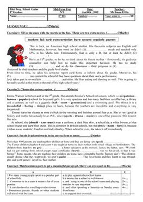 20 free esl grade 8 worksheets
