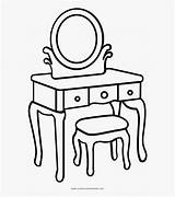 Dressing Table Coloring Clipart Clipartkey sketch template
