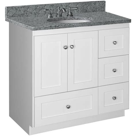 36 white vanity cabinet simplicity by strasser shaker 36 in w x 21 in d x 34 5