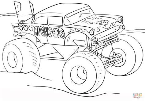 coloriage avenger monster truck coloriages  imprimer gratuits