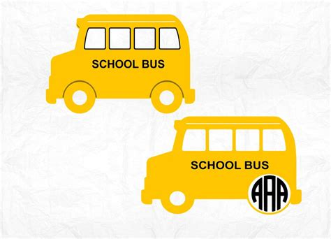 You simply select the file, open the cut style window & click on cut this is a free svg file from juliana michaels 17 turtles site. School bus monogram SVG Clipart Cut Files Silhouette Cameo ...