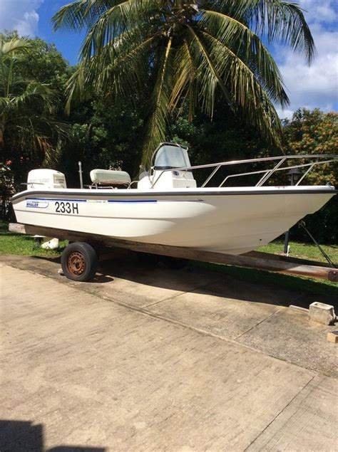 Boston Whaler Speed Boat by Http Barbadosauctions Boston Whaler 16ft Speed Boat