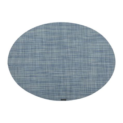 oval placemats buy chilewich mini basketweave oval placemat chambray amara