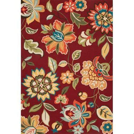 5x7 rug walmart contemporary floral leaves pattern polyester area