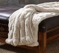 faux fur throw Ruched Faux Fur Throw - Ivory | Pottery Barn