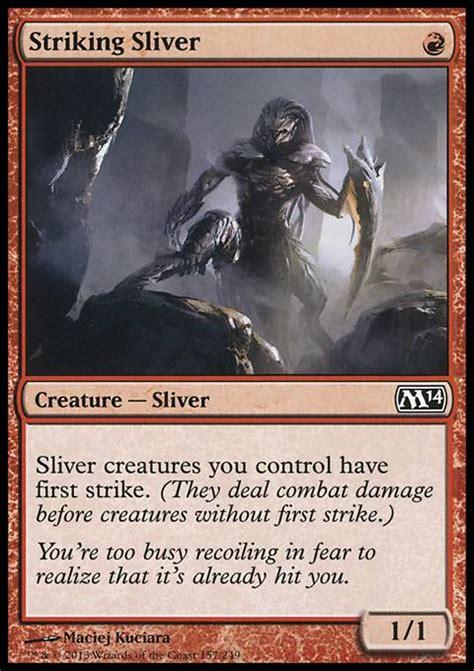 sliver deck mtg 2014 striking sliver m14 mtg card