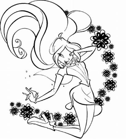 Winx Coloring Club Pages Fairies Forget Supplies