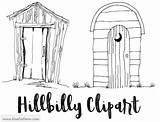 Hillbilly Shacks Bluefoxfarm sketch template