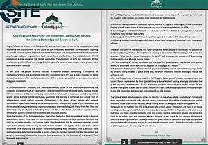 Tahrir al-Sham Releases Statement Rebuking the United ...