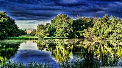Pond Water Nature Ponds Trees Wallpapers Wallpapersafari