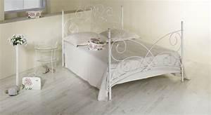 Metallbett 90x200 Weiß : doppelbett romantisch z b in braun aus metall amarete ~ Indierocktalk.com Haus und Dekorationen