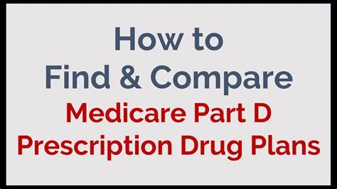 find compare medicare part  prescription drug