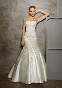 Duchess satin with embroidery wedding dress style 2512 for Embroidered wedding dress