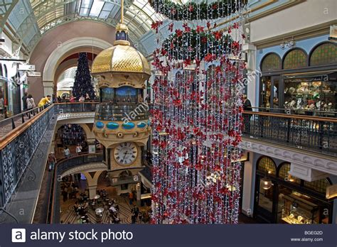queen victoria building shopping centre at christmas