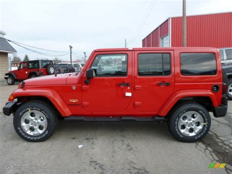 jeep sahara red 2014 flame red jeep wrangler unlimited sahara 4x4