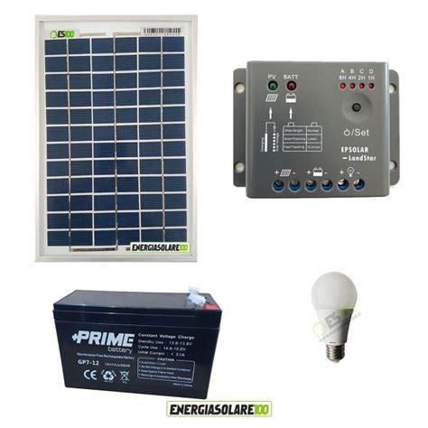 Kit Illuminazione Kit Illuminazione Esterni E Interni Pannello Solare 5w Con