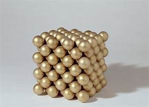 Gold Crystal Structure Model Showing The Face