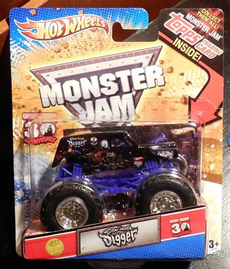 grave digger 30th anniversary monster truck toy monster jam son uva grave digger mosc new wheels 30th
