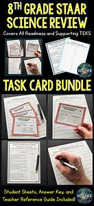 8th Grade Science Staar Review Task Cards Bundle