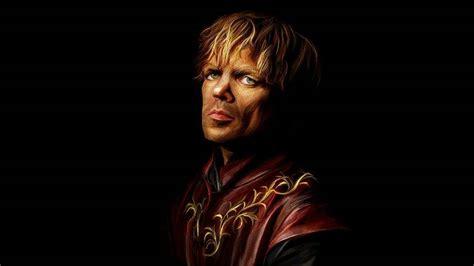 tyrion lannister black background game  thrones artwork