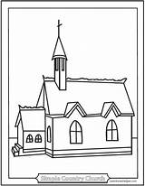 Church Coloring Simple Pages Sheets Country Catholic Chapel Helpers Template Churches Printable Catechism Sketch Helper Sanctuary Jesus Baltimore Saintanneshelper Religion sketch template