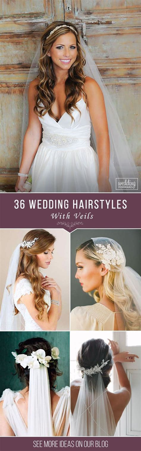 36 Wedding Hairstyles With Veil We picked up wedding