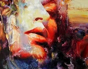 Peinture Visage Femme : peintures no lle cl ment peintures a l huile recentes ~ Melissatoandfro.com Idées de Décoration