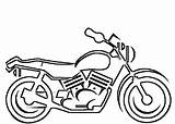 Coloring Motorcycle Pages Printable Boys sketch template