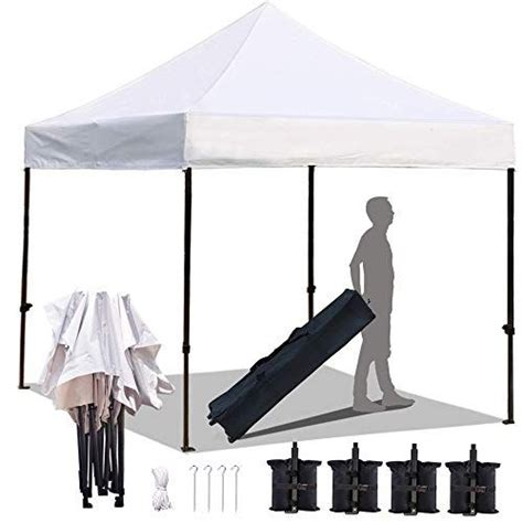 kingshade   ez pop  canopy tent  ft commercial instant tents  heavy duty roller