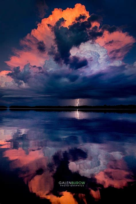 reflecting sunset strike lightning strikes  sunset