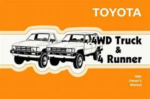 1988 Toyota 4wd Truck    4runner Owners Manual User Guide