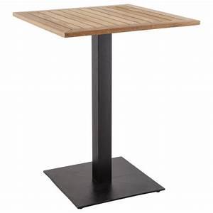 Pieds De Table : pied de table pary carr en m tal 50cmx50cmx90cm noir ~ Farleysfitness.com Idées de Décoration