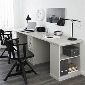 Bureau Ikea Enfant : klimpen tafel lichtgrijs grijs studeren werkkamer en ~ Nature-et-papiers.com Idées de Décoration