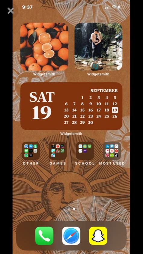 ios 14 home screen aesthetic layout homescreen iphone