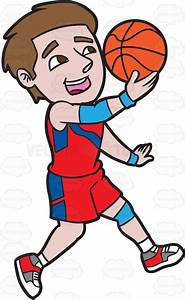 A Male Basketball Player Jumping To Do A Lay Up Shot ...