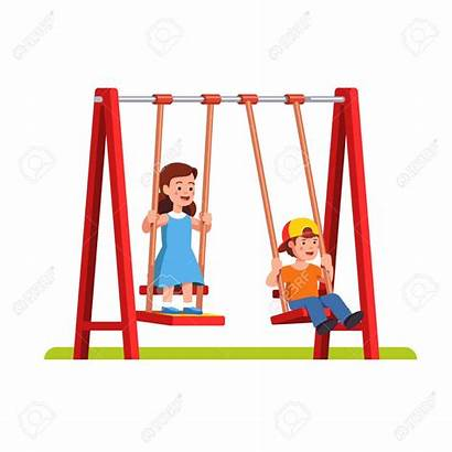 Swing Clipart Playground Swinging Fun Getdrawings Boy