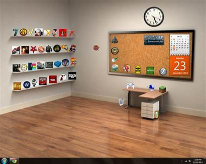 Desktop Office Empty Background Backgrounds Desk Wallpapers