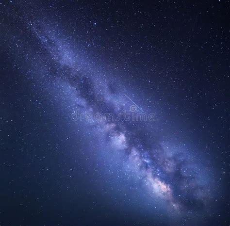 Night Starry Sky Background Stock Photo Image Shine