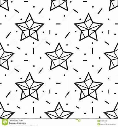 Outline Star Pattern Seamless Sky Stars Starry